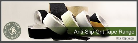 The Non-Slip.co.za Anti-slip Tape Range